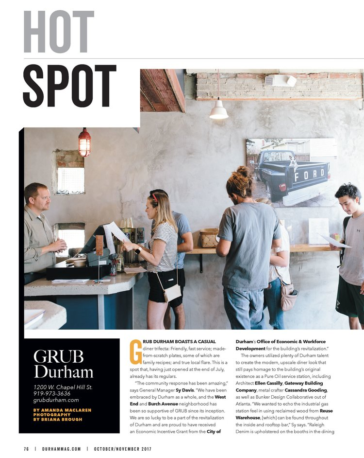Grub Durham Bunker Design