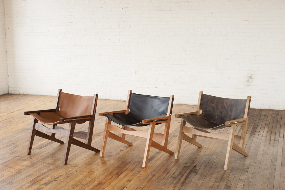 Three Peninsula Chairs by Ben Klebba of Phloem Studio, co-designer of Room 3 at The Jennings Hotel