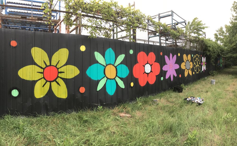 Detroit CITY WALLS - The original concept for Daisy Chains came from a site specific installation for the City of Detroit during a project called