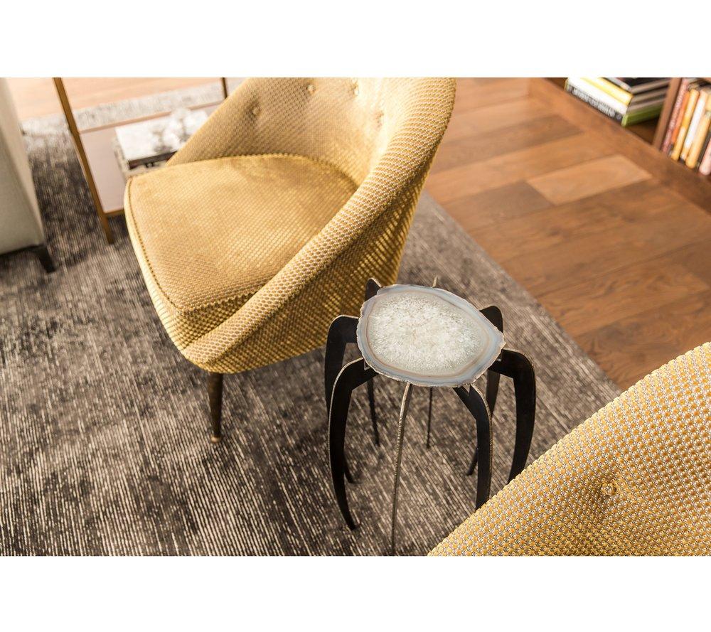 Art Collector's Chair & Custom Rug Detail | CHUSED & CO.