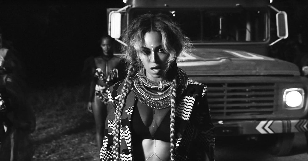 "Beyonce. ""Sorry"" (from the 2016 visual album,  Lemonade .)"