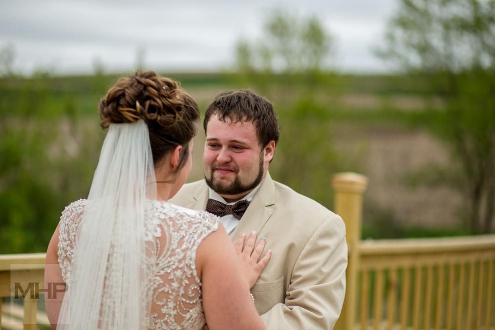 Omaha Wedding Photography First Look