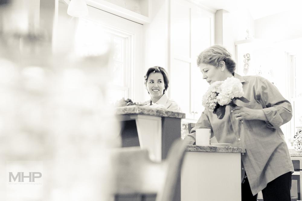 Omaha Wedding Photojournalism Bride and Mother