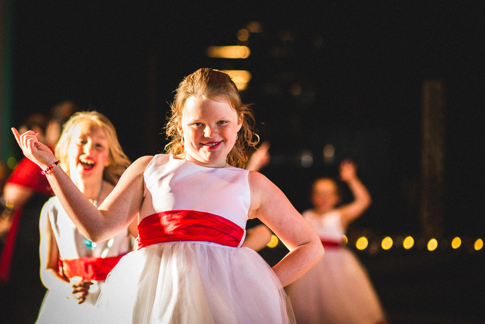 Omaha Wedding Photography Candids Flower Girl