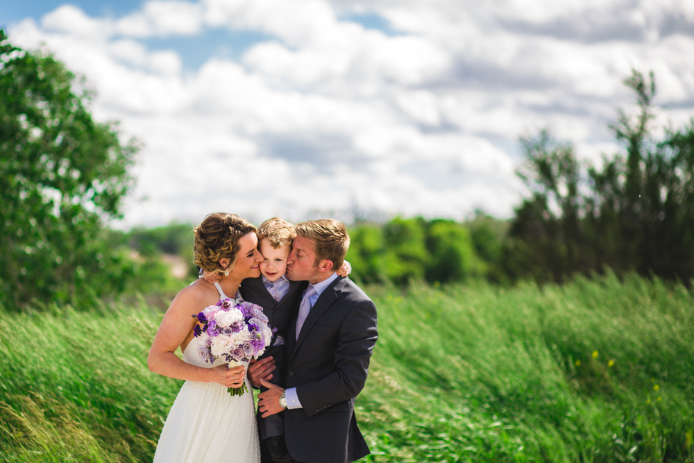 Omaha A View on State Wedding Photography Bride Groom and Son