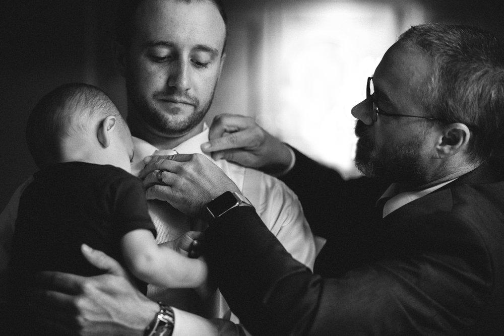 Real Omaha Wedding Photographer Moments Groom and Son