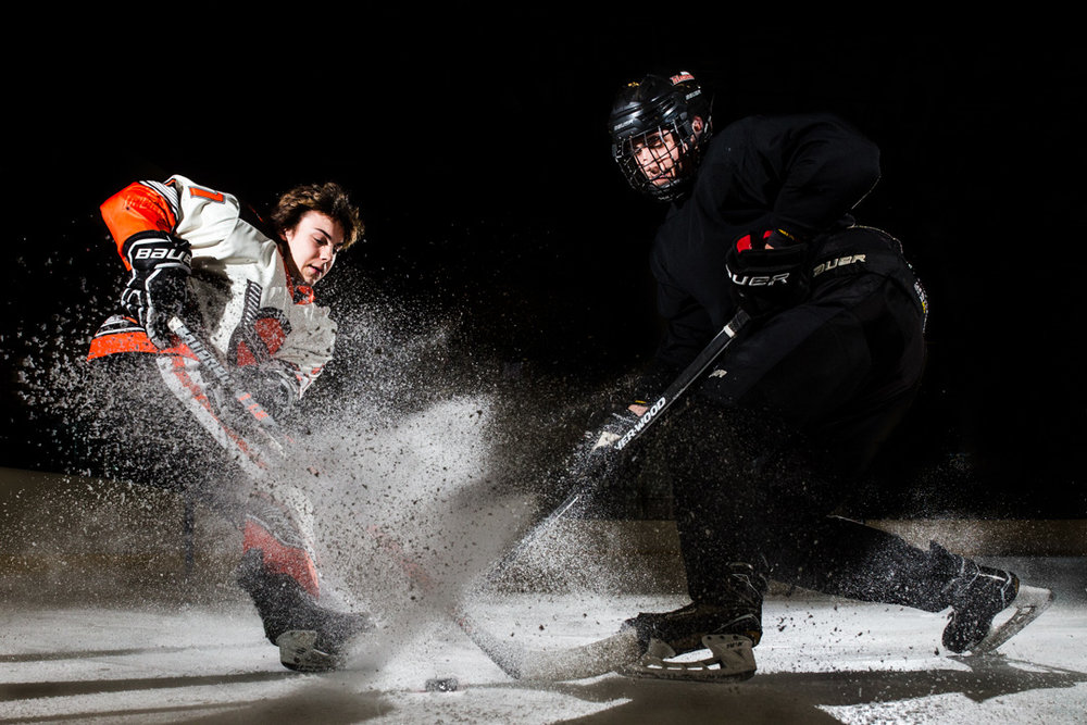 Omaha Senior Photography Junior Lancers Hockey
