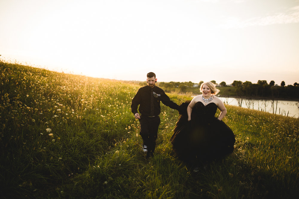 Sunset Wedding Photography Omaha