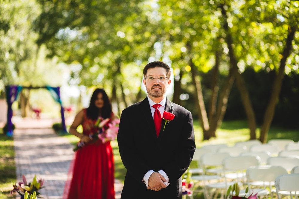 Omaha Wedding Photographer First Look