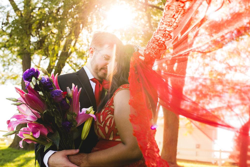 Wedding Photographer Omaha NE Indian Wedding Bride and Groom