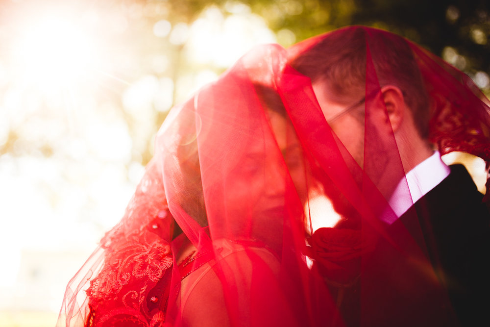 Beautiful Wedding Photography Red Wedding Dress Omaha