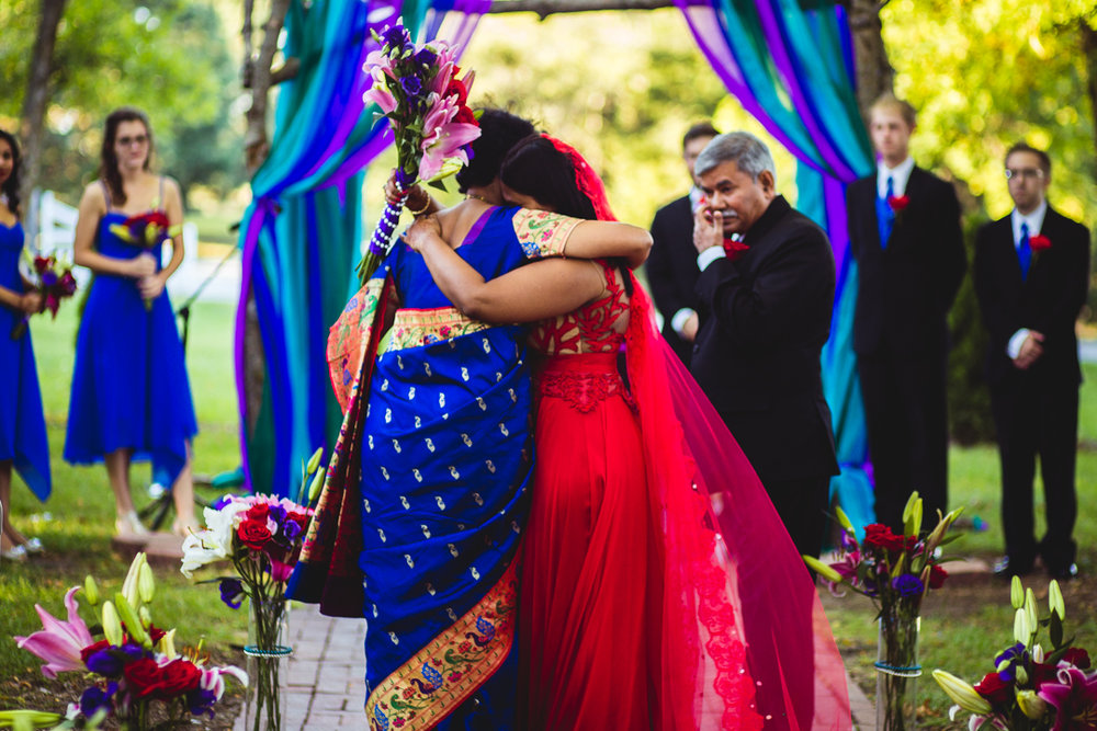 Wedding Photography Omaha NE Indian Ceremony Mother and Bride Love