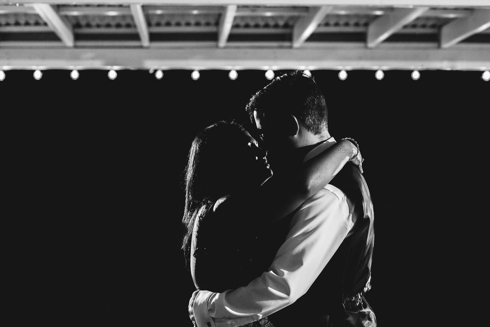 First Dance with Bride and Groom Omaha Wedding Photographer