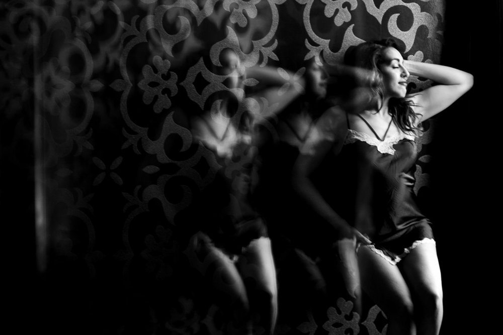 Triple Reflection Boudoir Photography Image Omaha NE