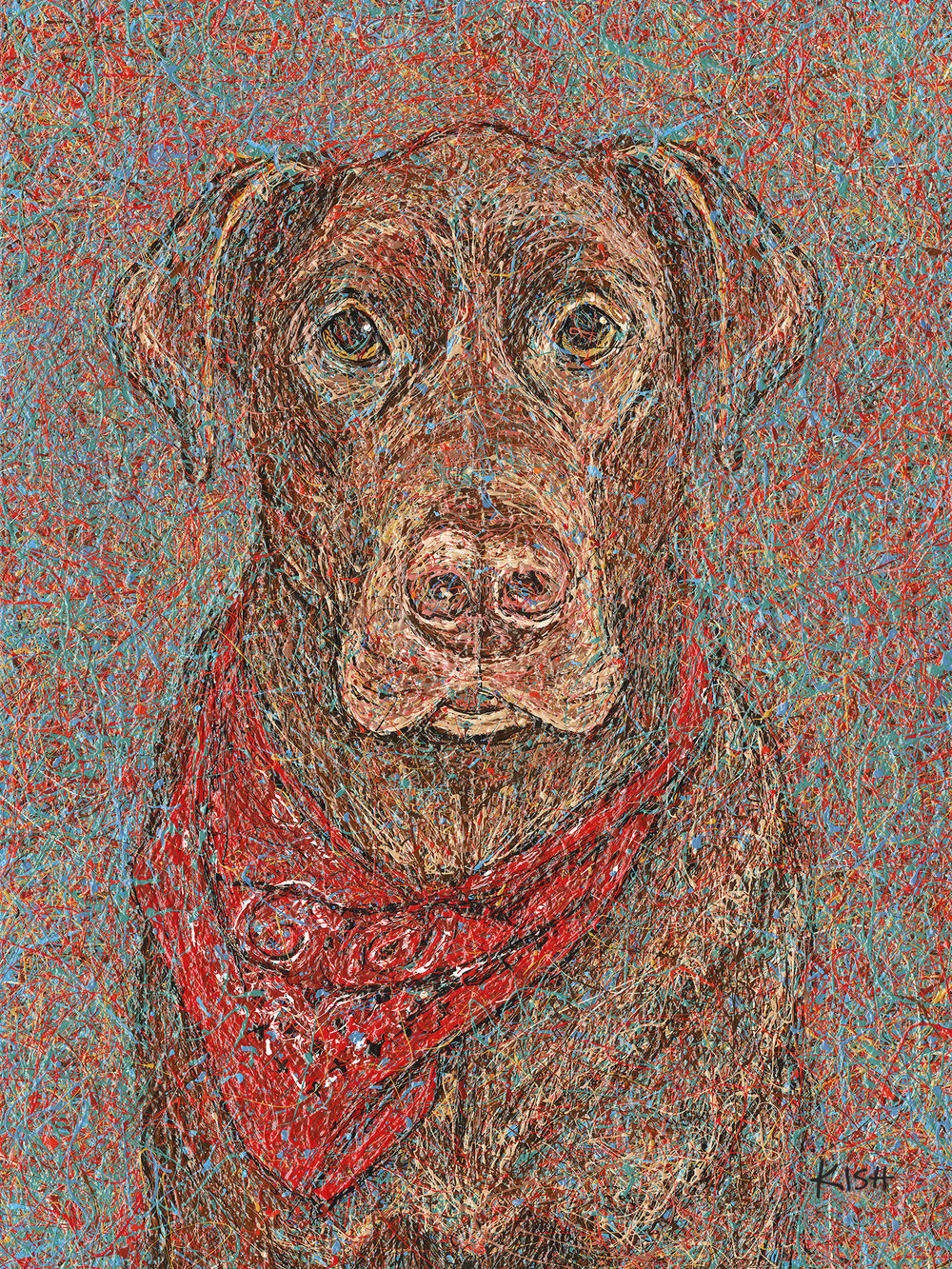 CHOCOLATE LAB  - ORIGINAL ART 30 x 40—SOLDArt Print (giclee)                      16 x 20 ................$125                                               18 x 24 .................$150Canvas Print (giclee)               16 x 20 ................$325                                               30 x 40 ...............$750