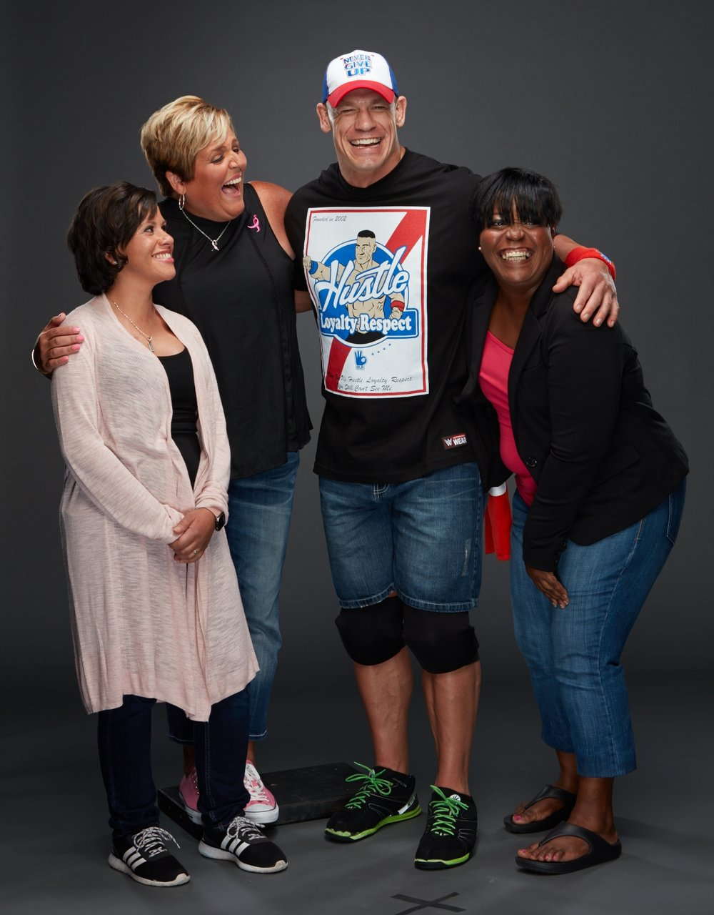WWE Superstar John Cena meets with breast cancer survivors during our #MoreThanPink campaign.