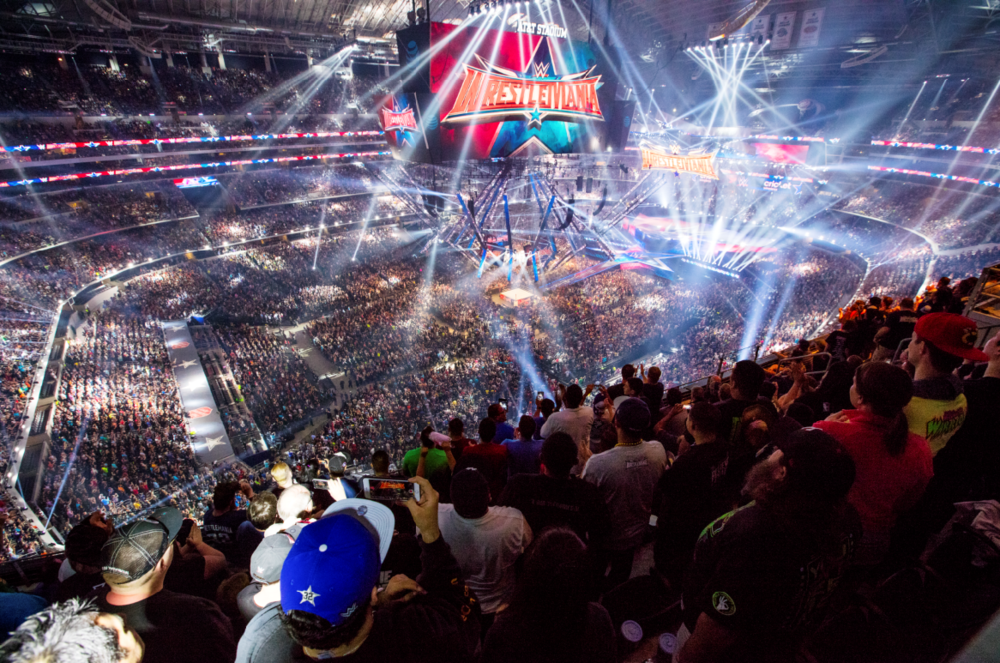 More than 100,000 of the WWE Universe attended WrestleMania 32 at AT&T Stadium in Arlington, Texas in April 2016. The event was the most socially discussed event in WWE history.