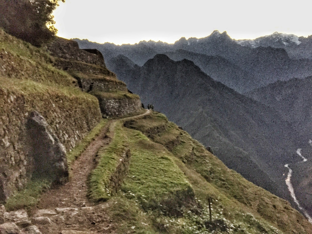 We made it to the Intipata Inca ruins at around 5:30AM.  Boy, was the sight of it needed.