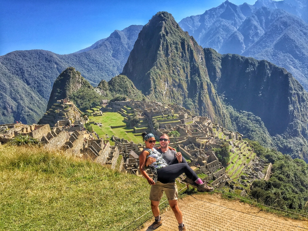 The money shot from One of the Seven Wonders of the World: Machu Picchu. What a sight!