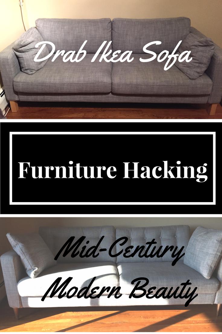 Turning The Ikea Karlstad Sofa Into A Mid Century Modern Beauty