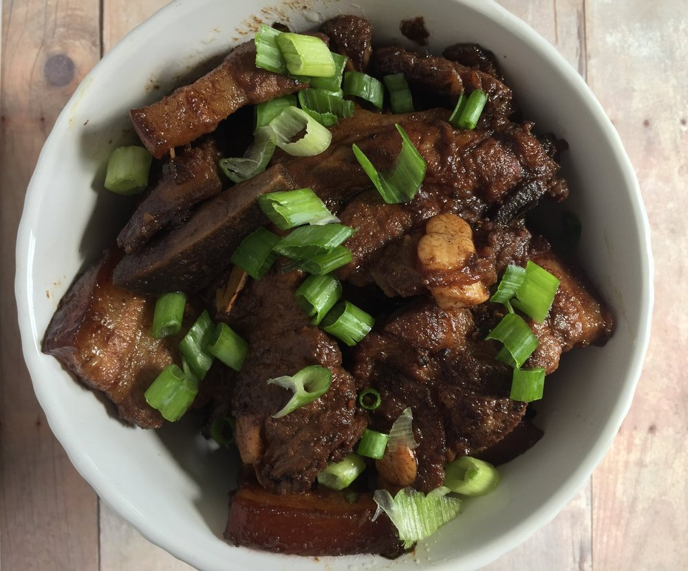 Papang's Filipino Adobo.  A classic Filipino dish made of pork belly, vinegar, soy sauce and lots of love.