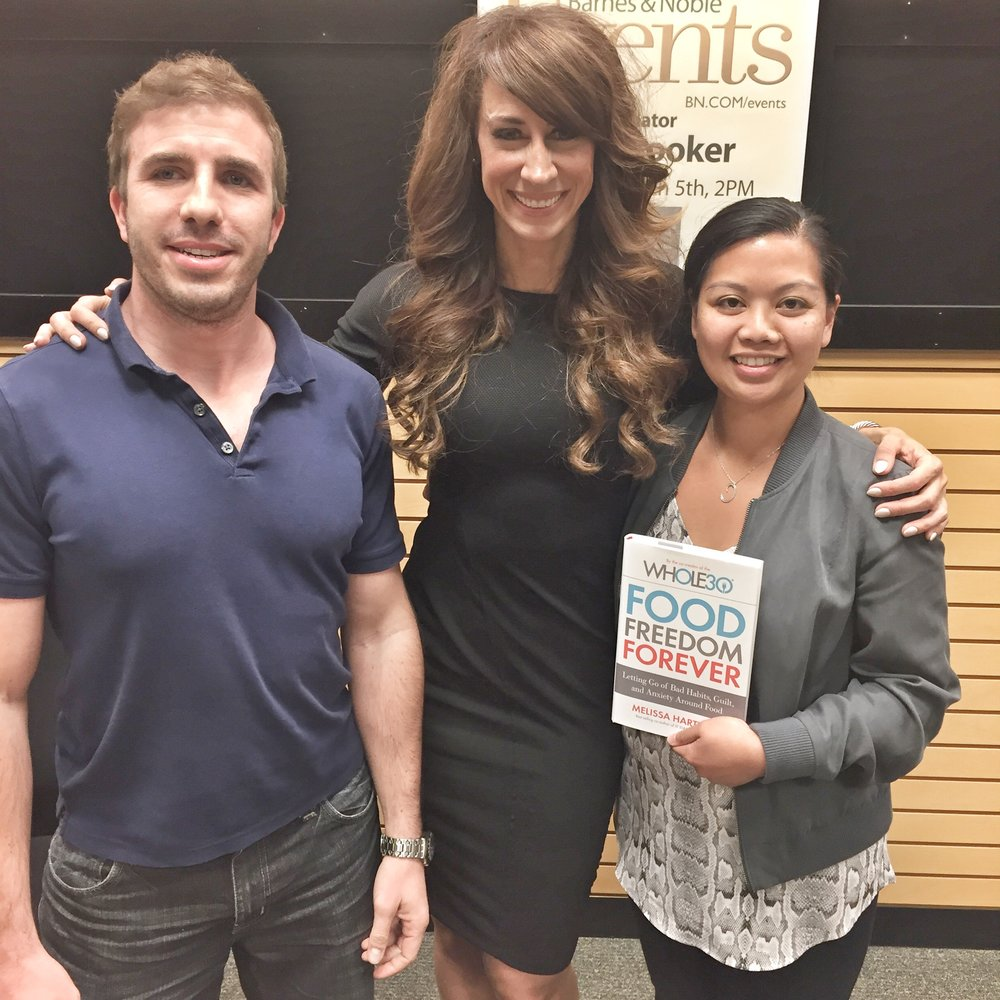 My husband and I meeting the whole30 pack leader, Melissa Hartwig, at a Barnes & Noble book signing in New Jersey the day her book came out.  Such is as beautiful and genuine in person.