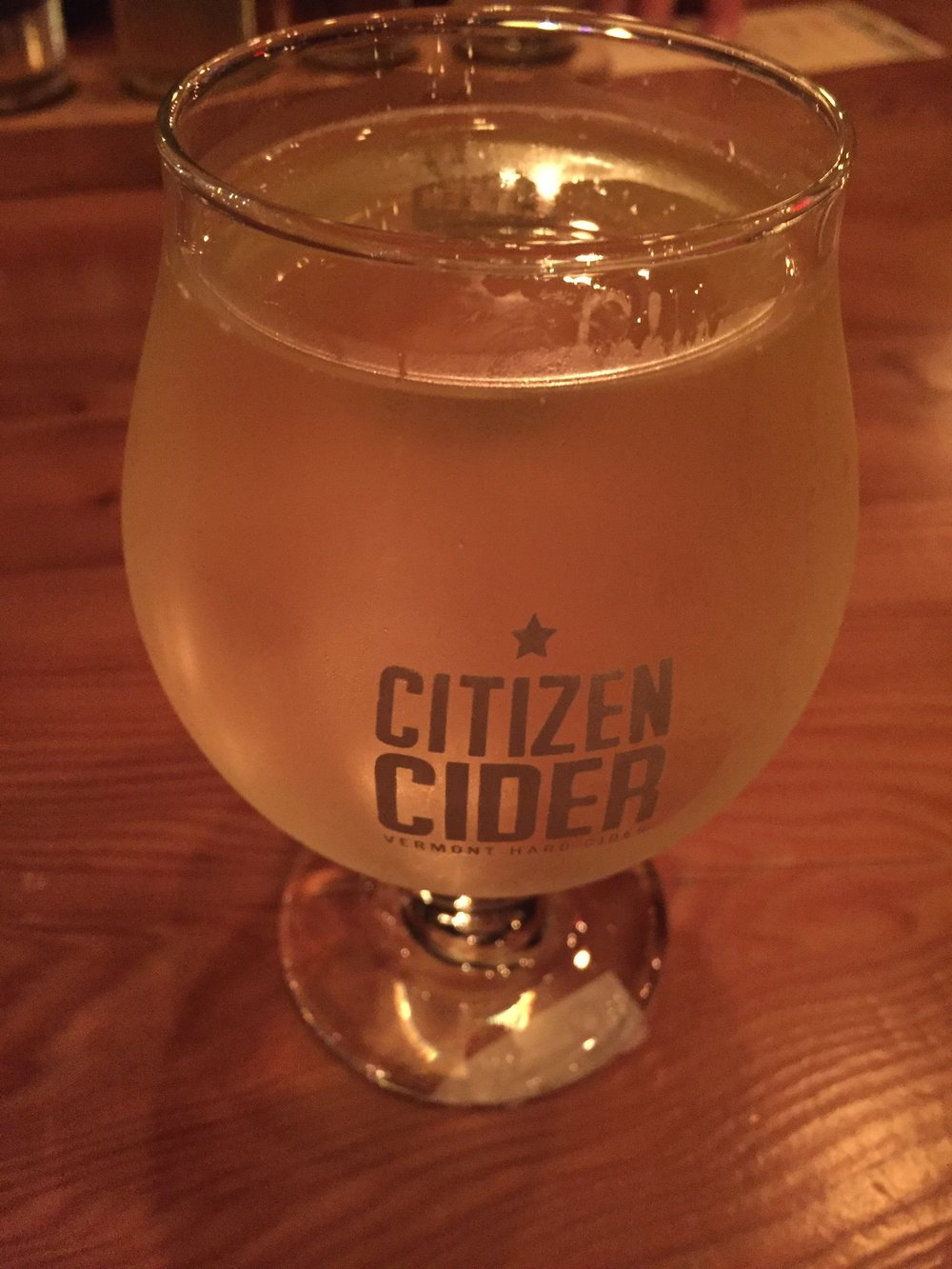 This is the Olmstead Apple Project Cider made of locally harvested apples from anyone in the region.  Named after  Frederick Law Olmstead , the father of landscape architecture and the designer of Central Park.