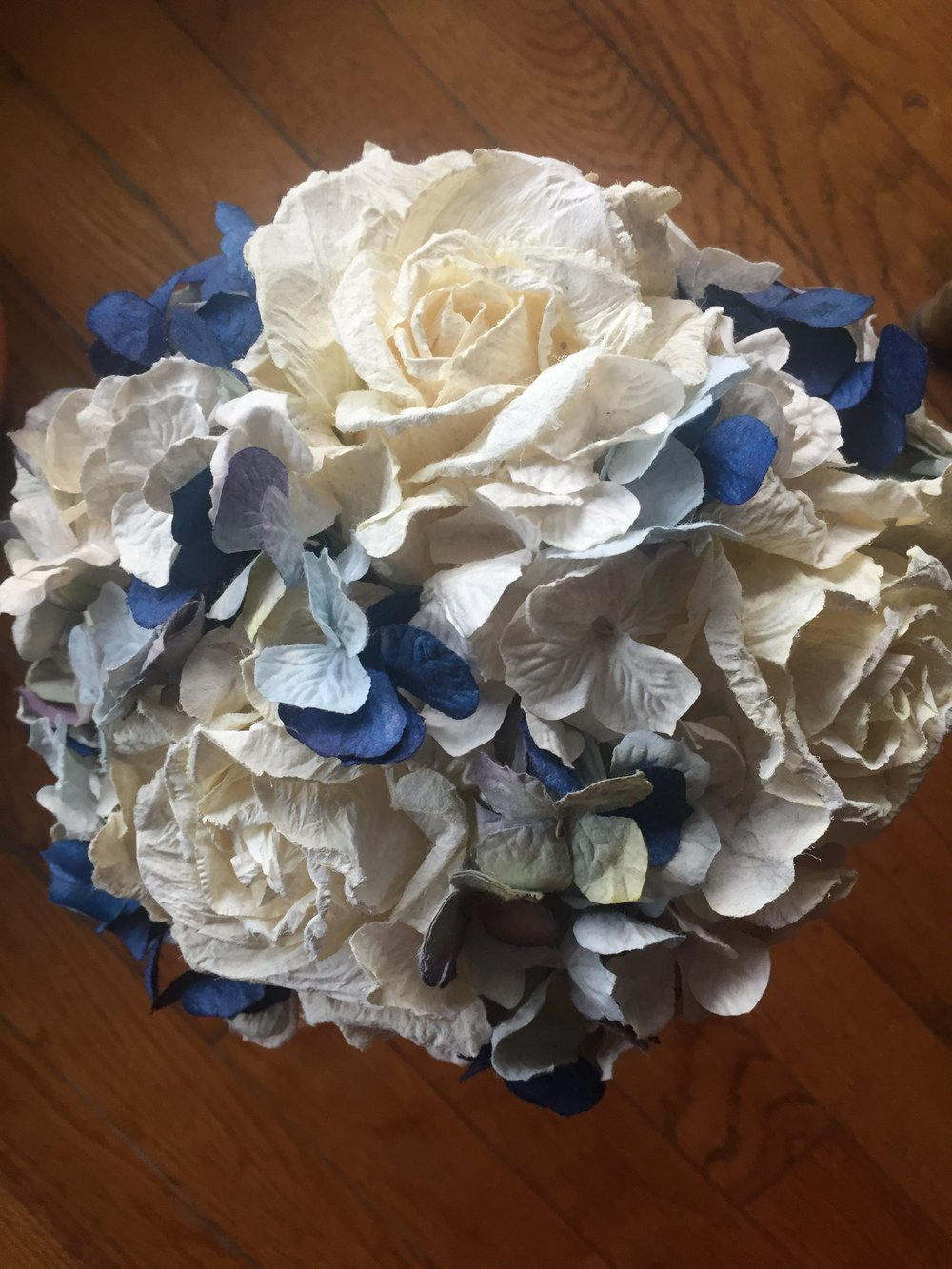 My wedding bouquet 4 years later.  Still looks good right?