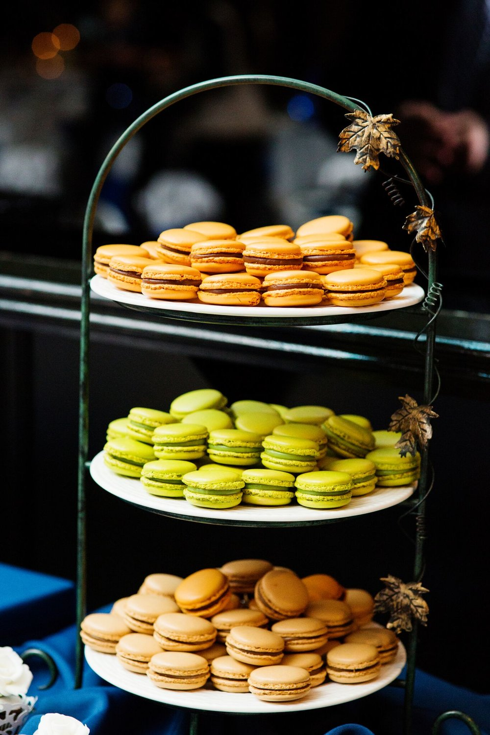 Bought Francois Payard macaroons on a borrowed plate.  Pretty right?