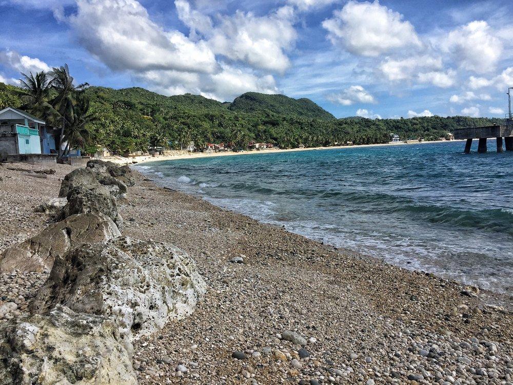 Bohol coast line.