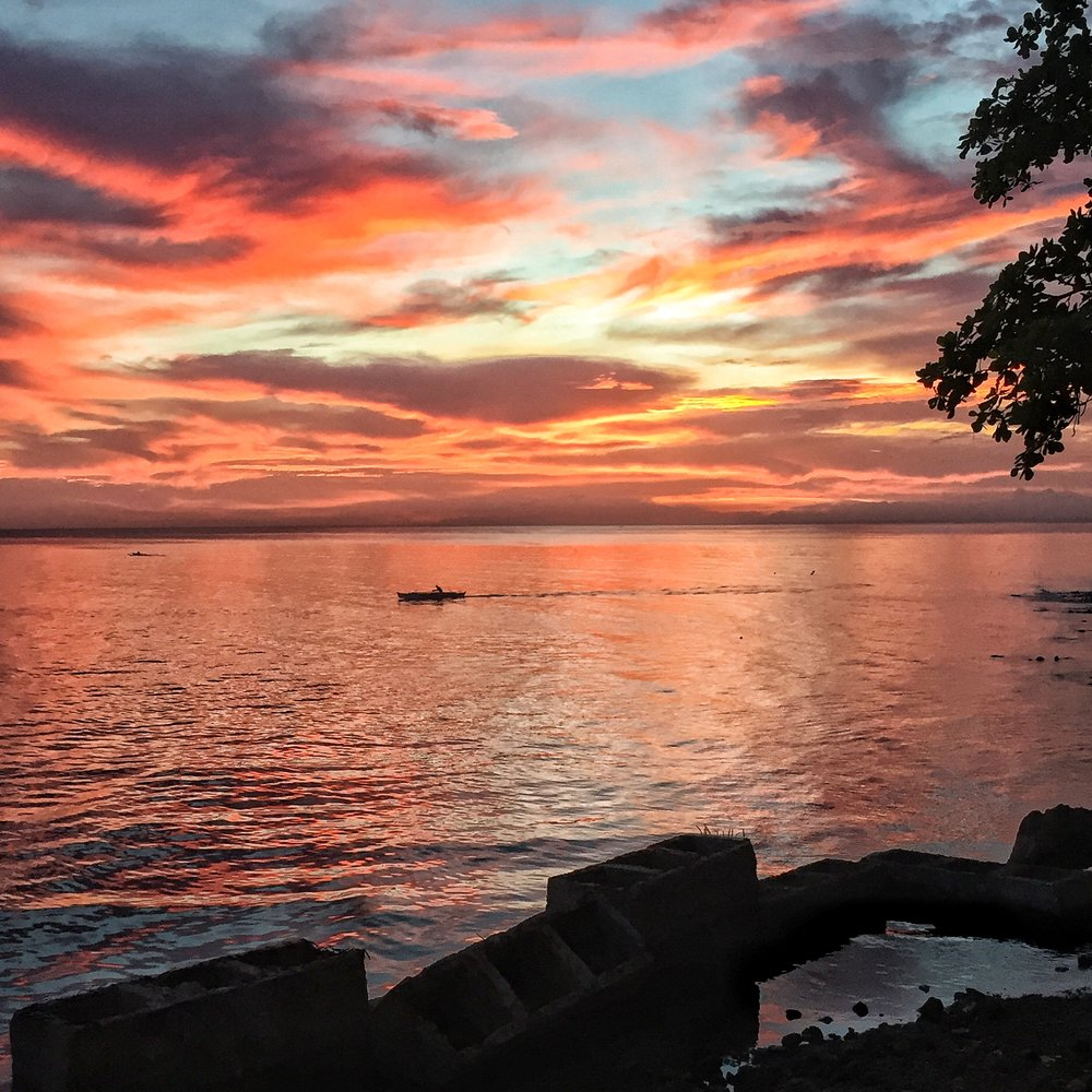 A sunset in Bohol.