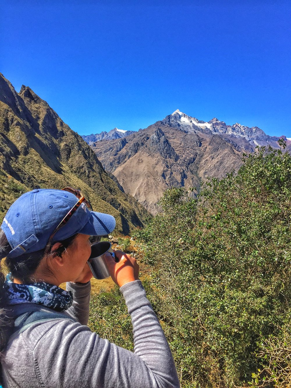 Just having some tea and taking in the view in top of the Andes.