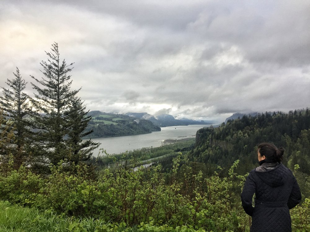 The Portland Women's Forum Stop allows you to see the Vista House and the Columbia River Gorge.