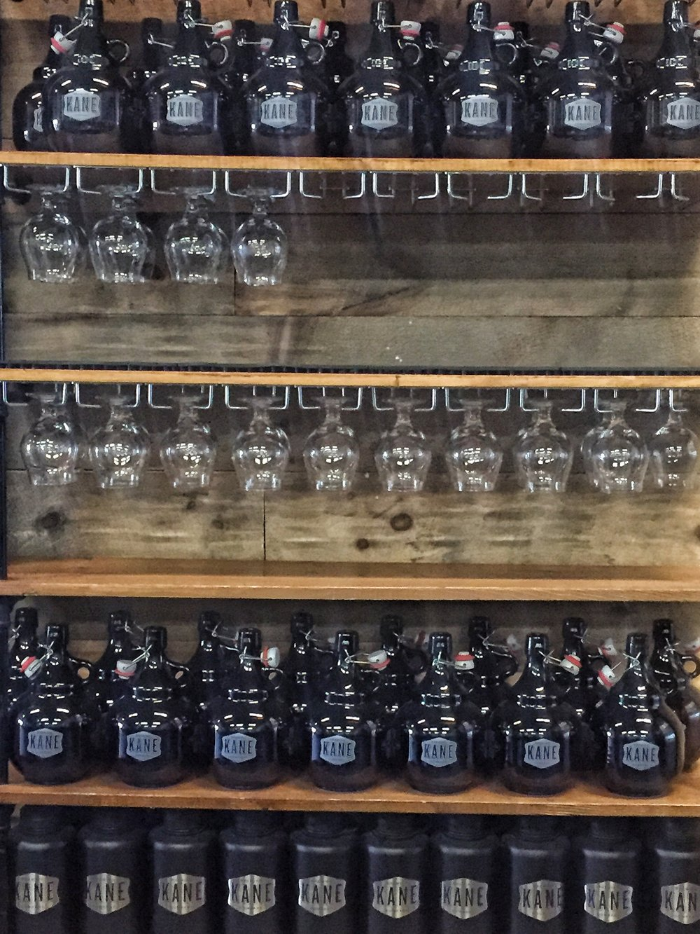 Growlers, glasses, stainless steel containers. You know this gets at my zero waste heart.