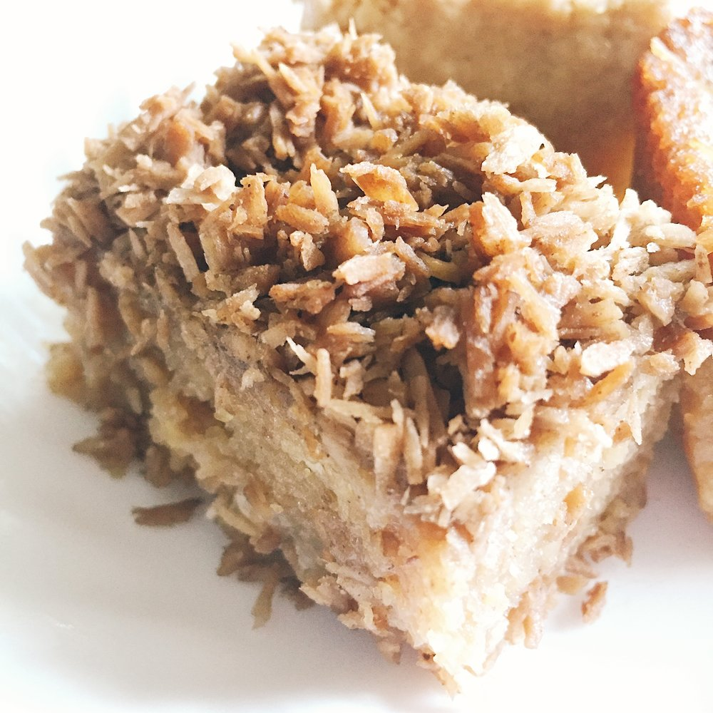 Paleo, gluten free, sugar free cassava cake.