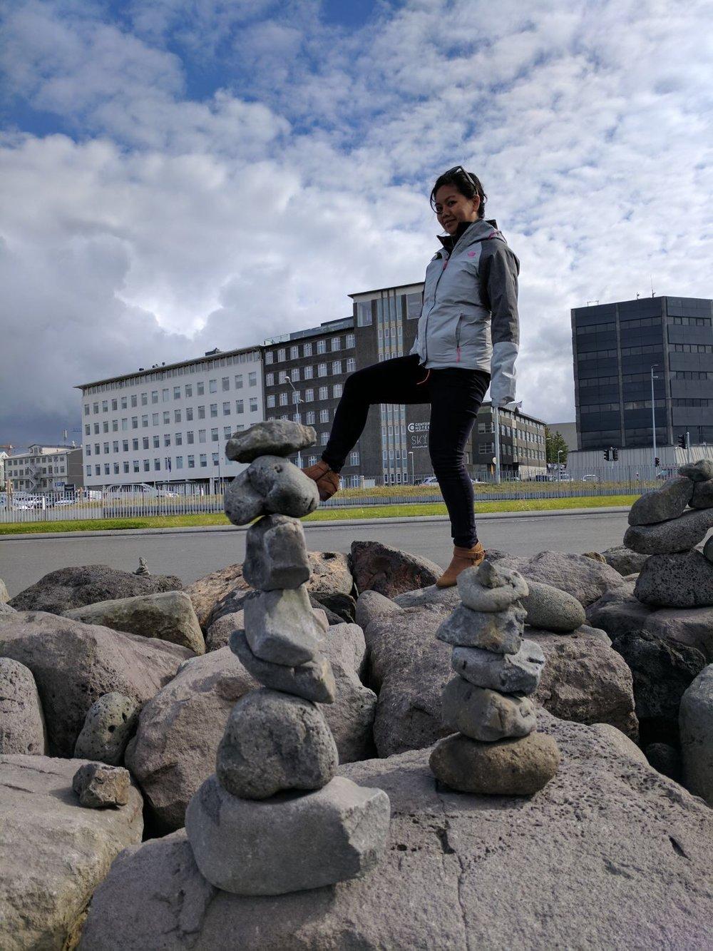 City strolling in Reykjavic.