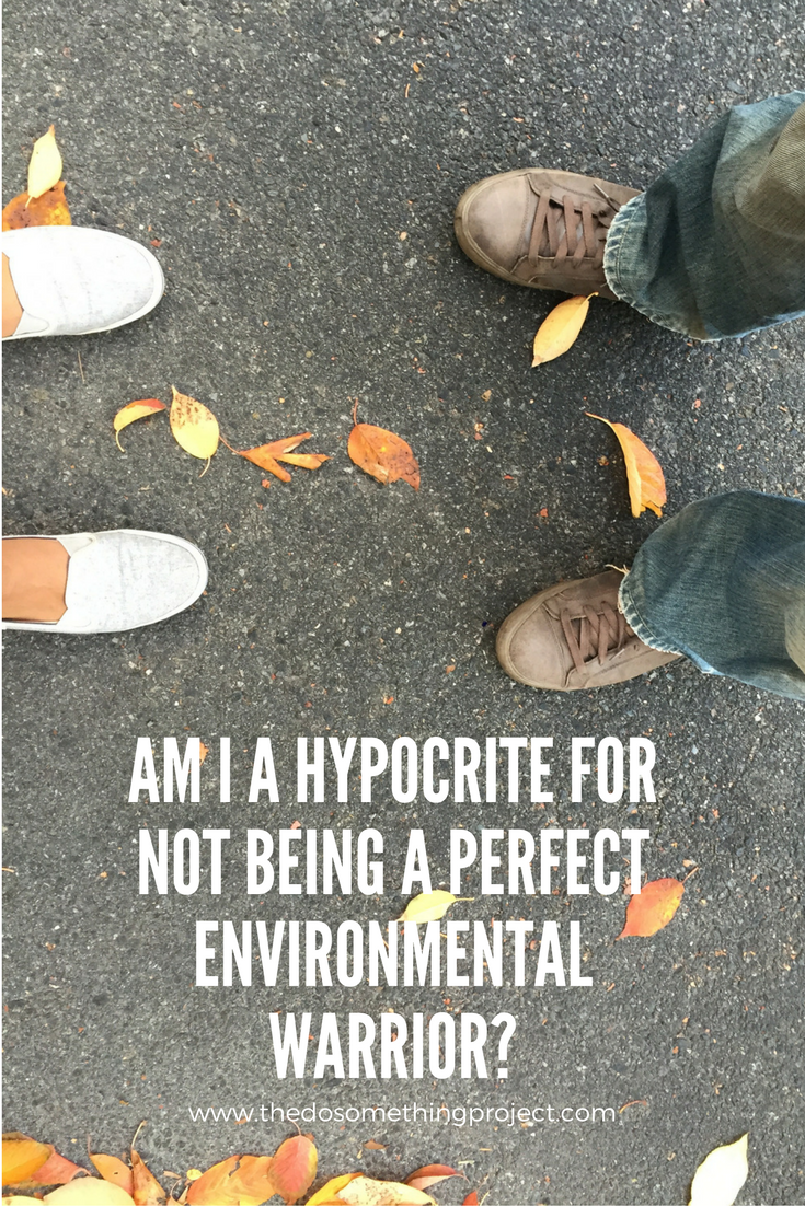 Am I being a hypocrite for not being a perfect environmental warrior?