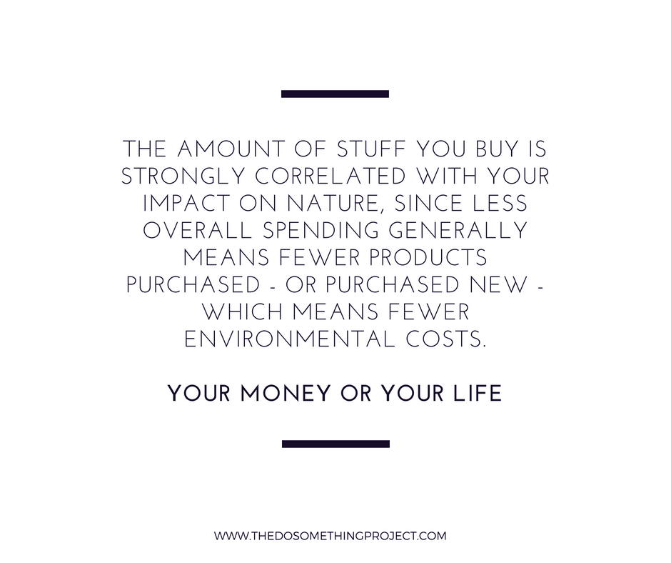 Your Money or Your Life: The stuff you buy is correlated with your impact on nature.