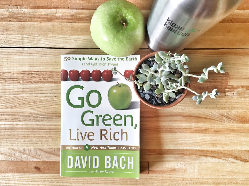 How going green can save you money. Go Green, Live Rich by David Bach.