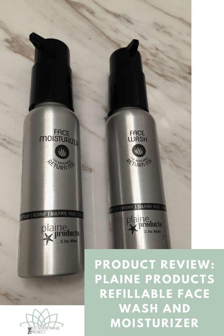 Product Review: Plaine Products Refillable Face Wash and Face Lotion