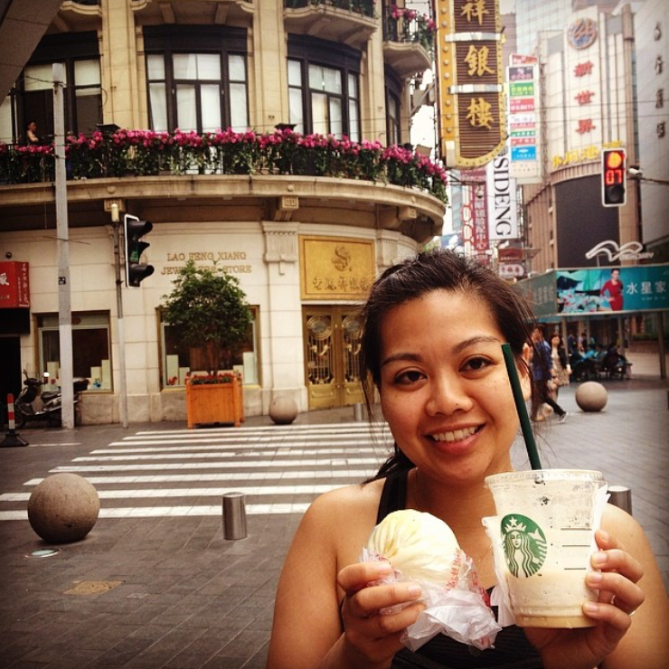 China in 2014 eating dumplings and having Starbucks in the morning. I've learned better habits since then.