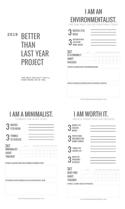 Free Journal Printables & Inserts for 2019.