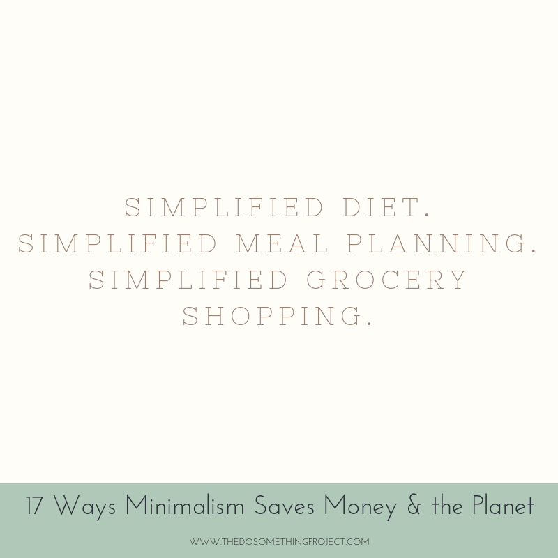 Simplified diet. Simplified meal planning. Simplified grocery shopping.