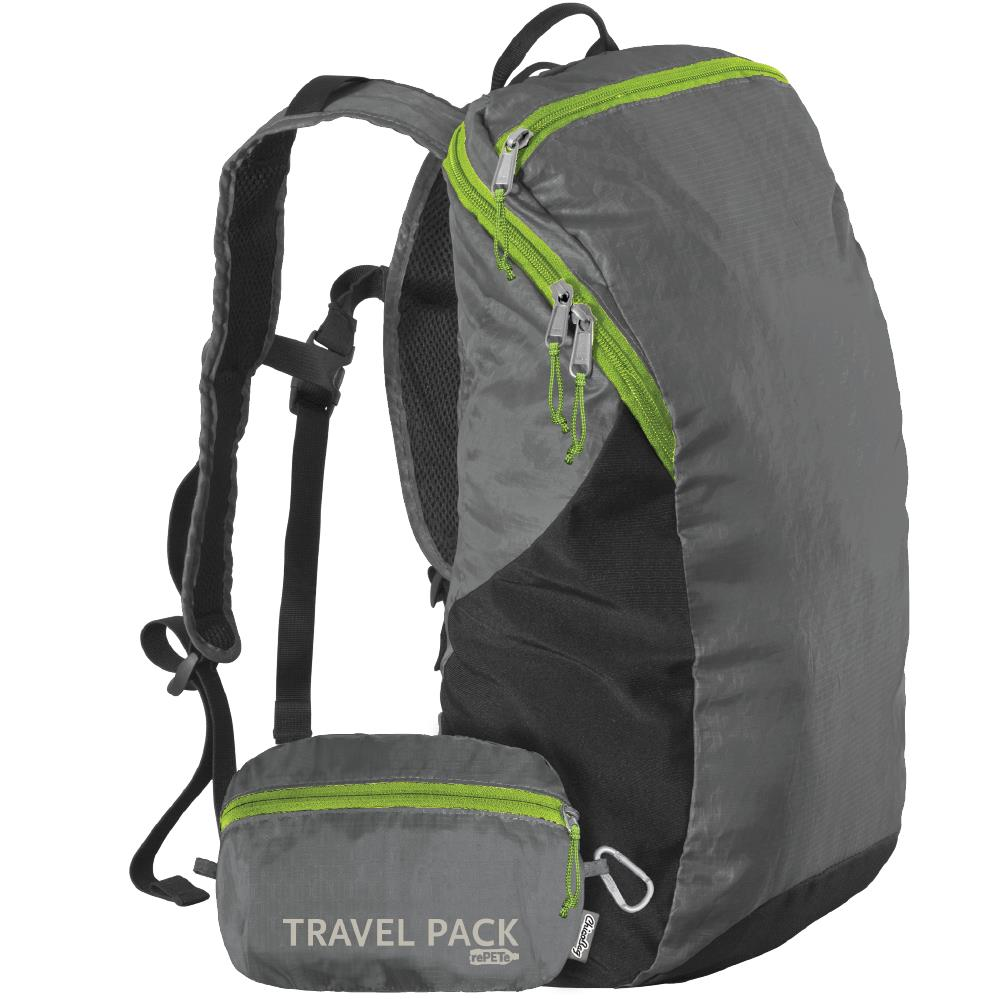 ChicoBag Travel Pack made of recycled nylon and PET bottles.