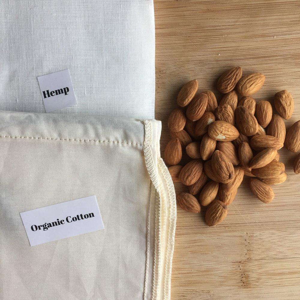 My Big Fat Organic Cotton and Hemp Nut Milk Sacks