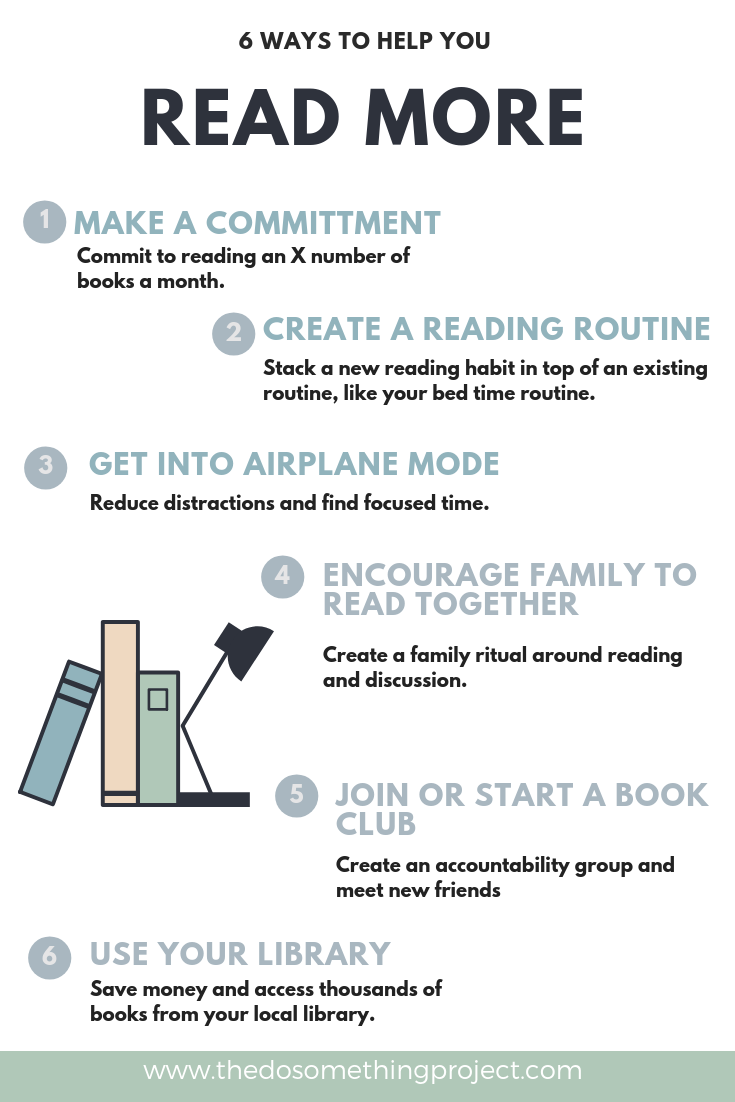 6 Ways to Help you Read More This Year