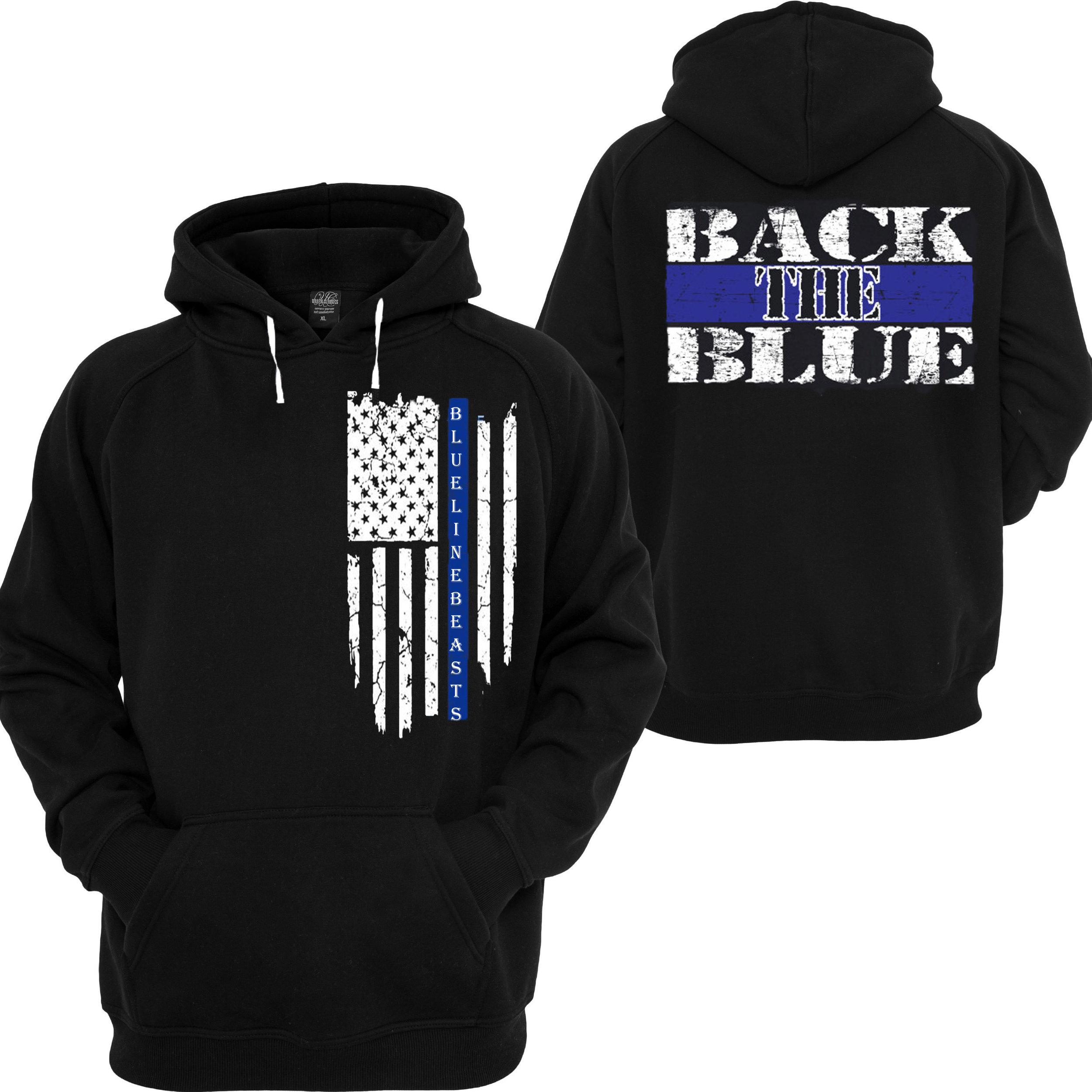 3a8a7562 Back the Blue (Hoodie Black) — Blue Line Beasts