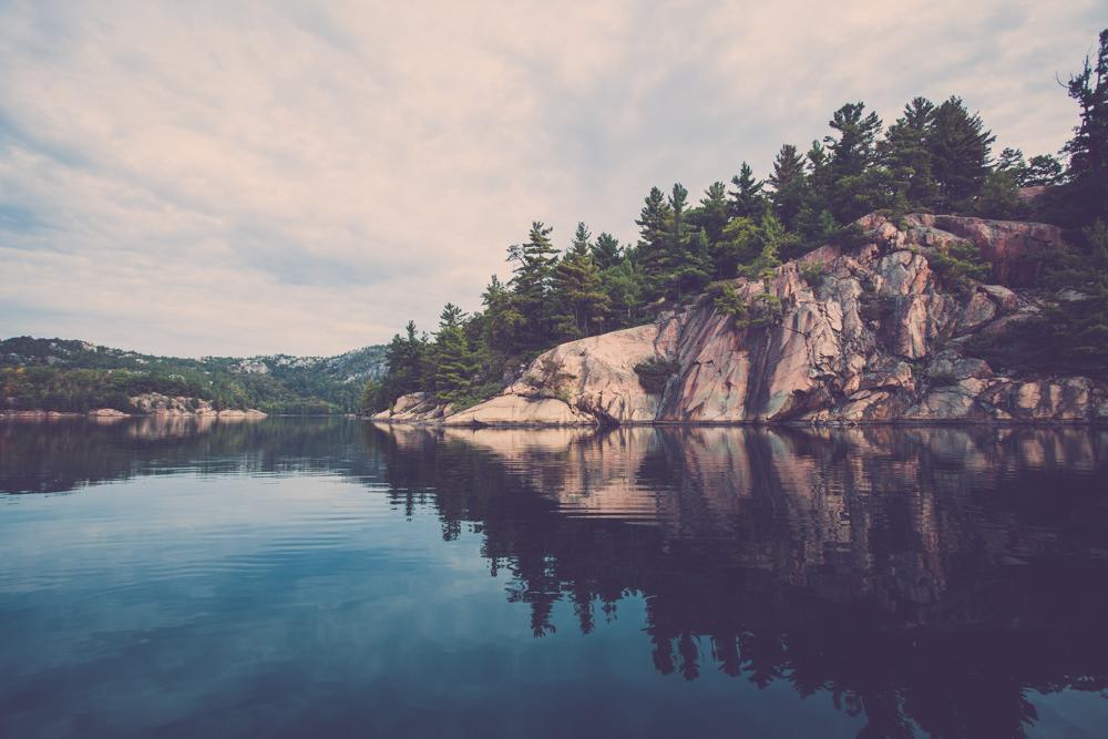 Granite Reflections. Killarney Provincial Park, Ontario, Canada.