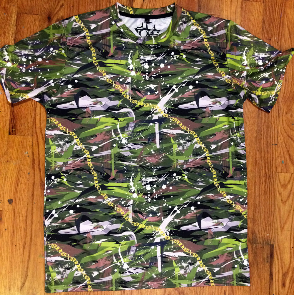 Tiger Chain Camo Short Sleeve Crew