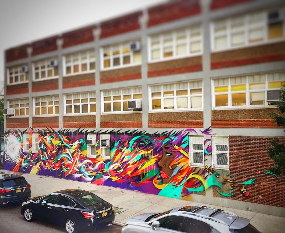 PS 92, Harlem, NY. 15 ft x 68 ft,